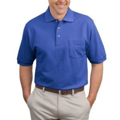 Heavyweight Cotton Pique Polo with Pocket Thumbnail