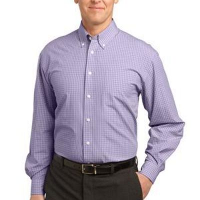 Plaid Pattern Easy Care Shirt Thumbnail
