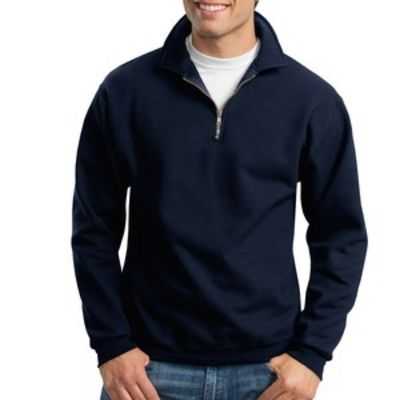 Super Sweats ® NuBlend ® 1/4 Zip Sweatshirt with Cadet Collar Thumbnail