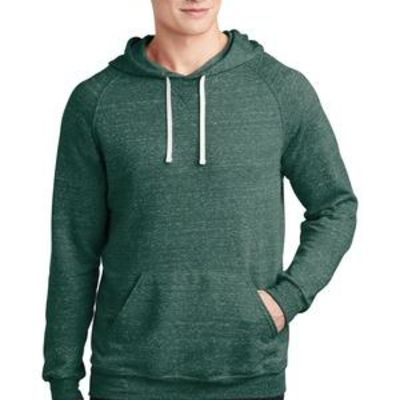 Snow Heather French Terry Raglan Hoodie Thumbnail