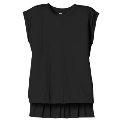 Women's Flowy Muscle Tee With Rolled Cuffs Thumbnail