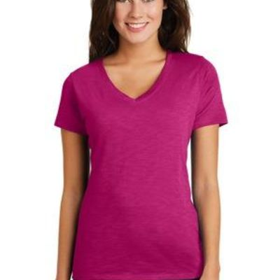 ® Women's Super Slub ® V Neck Tee Thumbnail