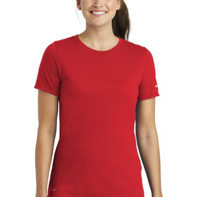 Ladies Dri FIT Cotton/Poly Scoop Neck Tee Thumbnail