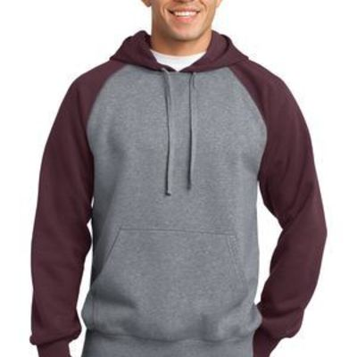 Raglan Colorblock Pullover Hooded Sweatshirt Thumbnail