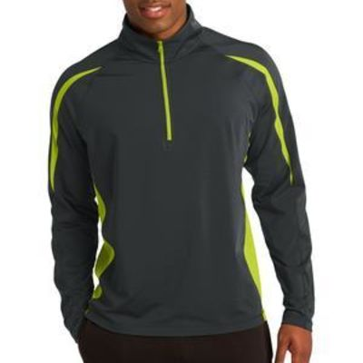 Sport Wick ® Stretch 1/2 Zip Colorblock Pullover Thumbnail