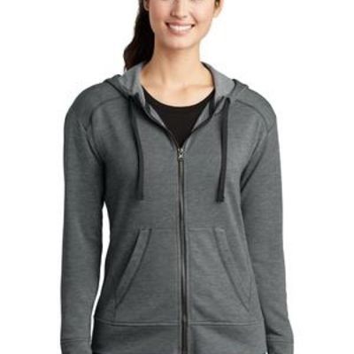 ® Ladies PosiCharge ® Tri Blend Wicking Fleece Full Zip Hooded Jacket Thumbnail