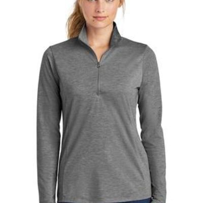 ® Ladies PosiCharge ® Tri Blend Wicking 1/4 Zip Pullover Thumbnail
