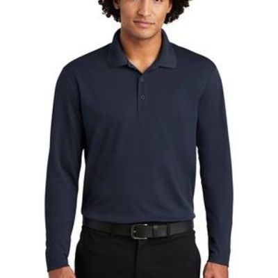 ® PosiCharge ® RacerMesh ® Long Sleeve Polo Thumbnail