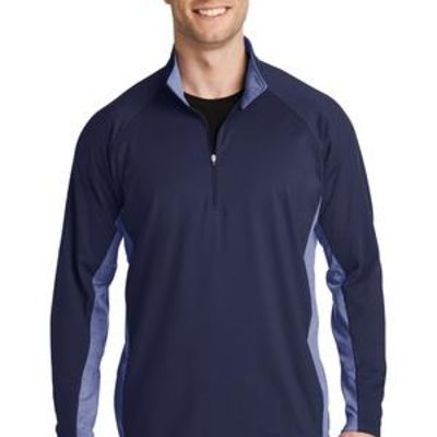 Sport Wick ® Stretch Contrast 1/2 Zip Pullover Thumbnail