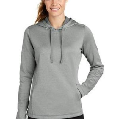 ® Ladies PosiCharge ® Sport Wick ® Heather Fleece Hooded Pullover Thumbnail