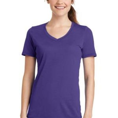Ladies Performance Blend V Neck Tee Thumbnail