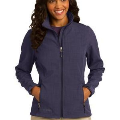 Ladies Shaded Crosshatch Soft Shell Jacket Thumbnail