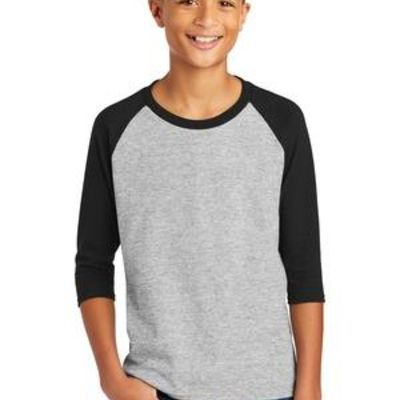 ® Heavy Cotton ™ Youth 3/4 Sleeve Raglan T Shirt Thumbnail