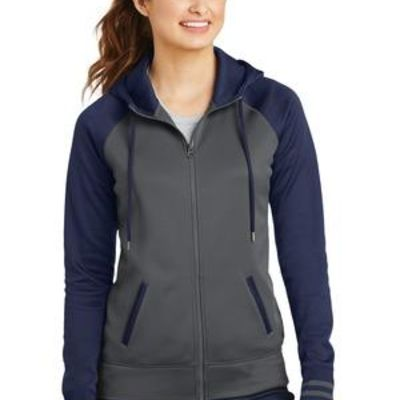 Ladies Sport Wick ® Varsity Fleece Full Zip Hooded Jacket Thumbnail