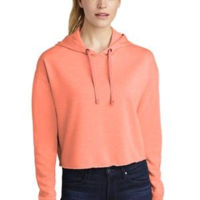 ® Ladies PosiCharge ® Tri Blend Wicking Fleece Crop Hooded Pullover Thumbnail