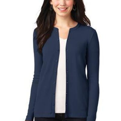 Ladies Concept Stretch Button Front Cardigan Thumbnail